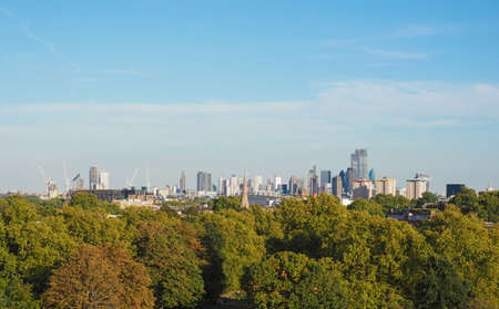 View of London skyline from Primrose Hill north of Regent's Park in London, UK Stock fotó