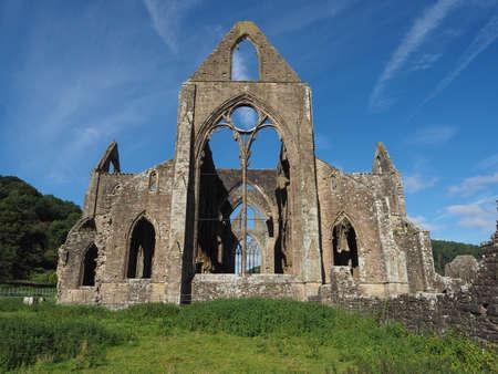 Tintern Abbey (Abaty Tyndyrn in Welsh) ruins in Tintern, UK
