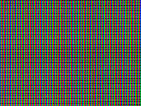 LCD screen macro detail with visible RGB pixels