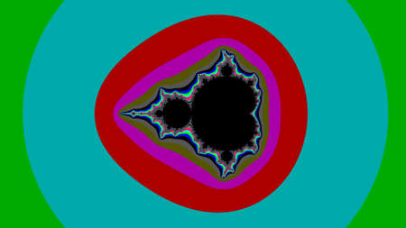 Colour Mandelbrot set abstract fractal illustration useful as a background Banco de Imagens - 136250278