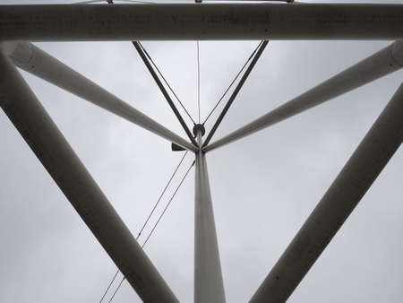 a steel mast structure for street lighting Stockfoto