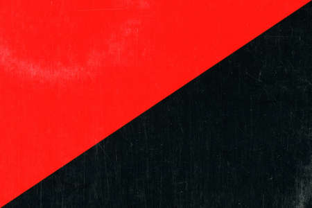 diagonally bisected red and black flag of anarchy