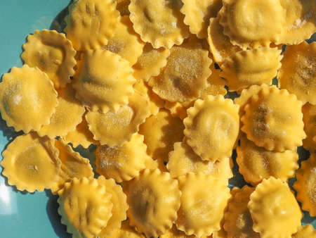 agnolotti traditional Italian pasta food filled with cheese and vegetables