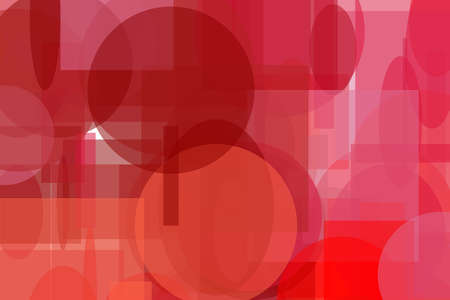 Abstract minimalist red illustration with circle and ellipses squares and rectangles useful as a background Stockfoto