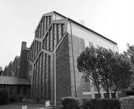 the Sankt Pankratius church in Koeln, Germany in black and white Stock Photo