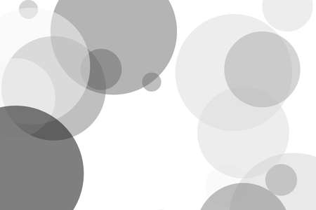 Abstract minimalist grey illustration with circles useful as a background Reklamní fotografie