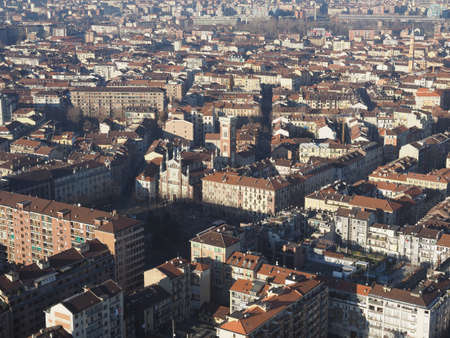 Aerial view of the city of Turin, Italy