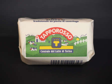 TURIN, ITALY - CIRCA FEBRUARY 2020: Centrale del Latte packet of butter
