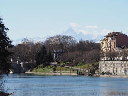 TURIN, ITALY - CIRCA FEBRUARY 2020: Fiume Po meaning River Po