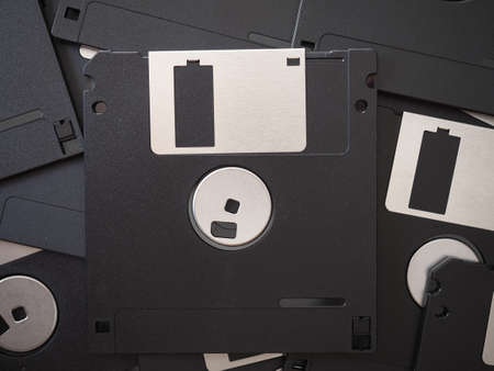many magnetic diskettes for personal computer data storage