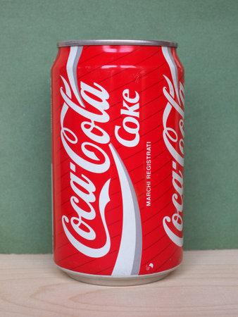 ATLANTA, USA - CIRCA MAY 2020: Coca Cola tin can