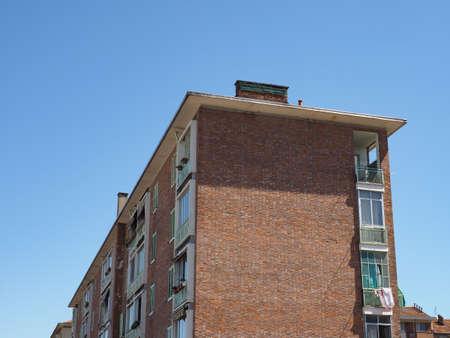 TURIN, ITALY - CIRCA JUNE 2020: Fiat social housing at Lingotto car factory complex