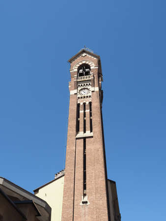 Steeple of Chiesa di San Giuseppe church in Turin, Italy