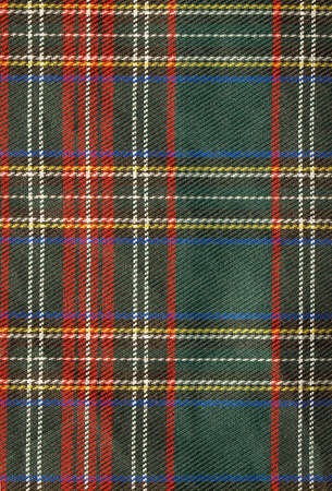 Tartan fabric swatch sample useful as a background 스톡 콘텐츠