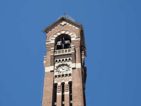 Steeple of Chiesa di San Giuseppe church in Turin, Italy