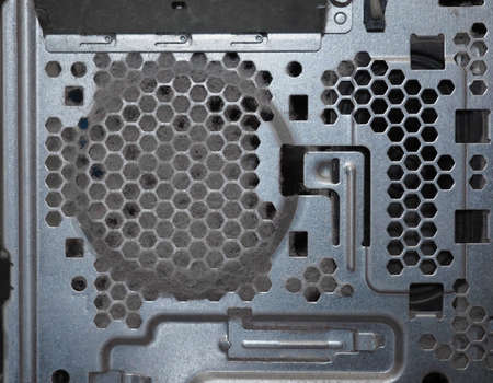 dust on a pc computer air intake vent causing overheating