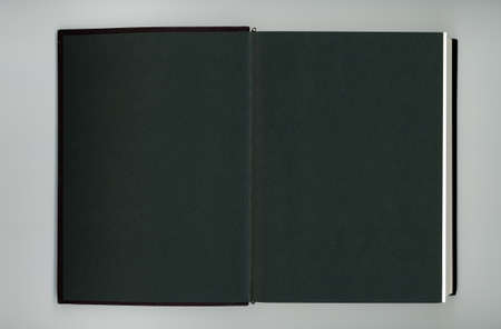 black book with blank pages useful as a background