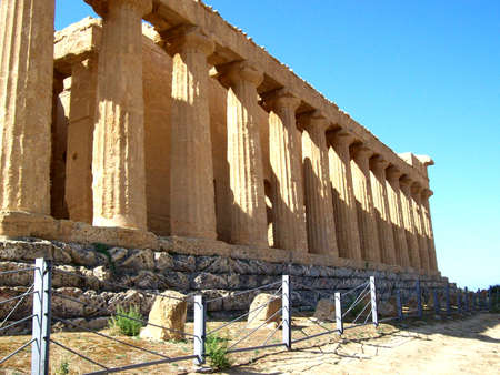 agrigento: Agrigento Temple valley 1 50 Stock Photo