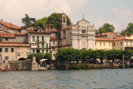maggiore: lake major in island of Italy