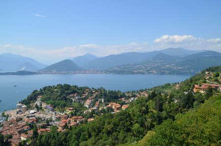 Overview of lake Maggiore photo
