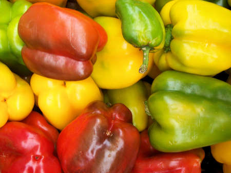 sectional: mix of fresh peppers