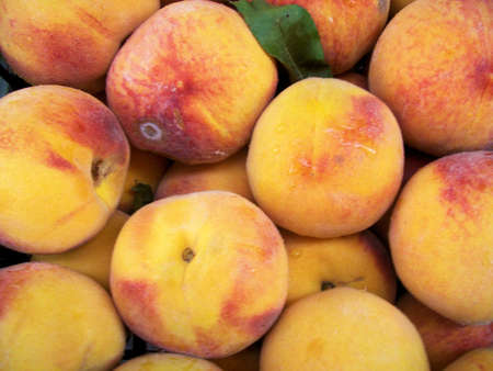 dieta: yellow peaches Stock Photo
