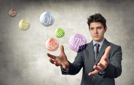 parapsychology: young business Stock Photo