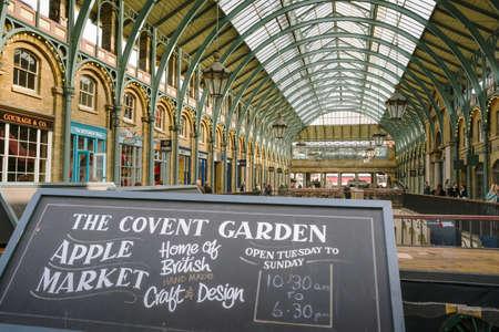 covent garden market: London UK, October 1, 2013 - View of Covent Garden Market