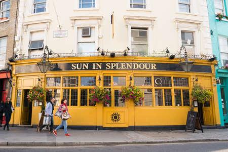 splendour: London, UK - September 30, 2013: Sun in Splendour is a pub of London