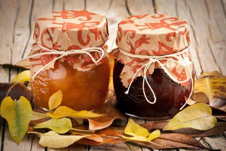 Jars of homemade jam Stock Photo