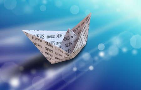 informatics: Paper boat - internet concept