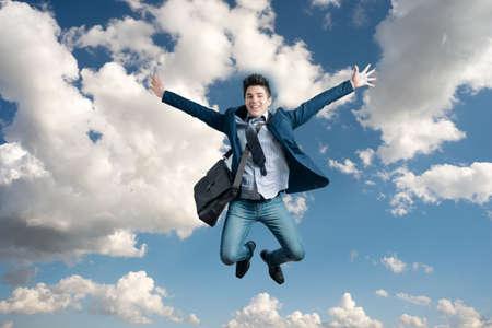 Man jumping for joy Stock fotó