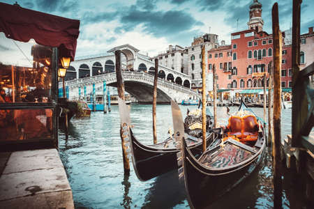 rialto bridge: Rialto Bridge view, Venice, Italy Stock Photo