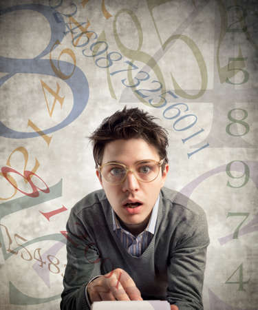perplexed: young perplexed accountant