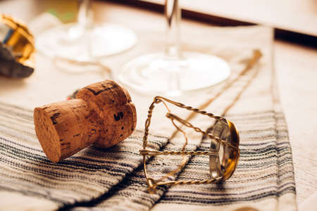 bottle opener: cork and bottle opener - wine