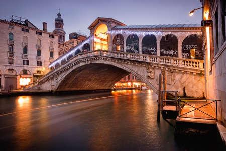 rialto: Rialto bridge at night, Venice