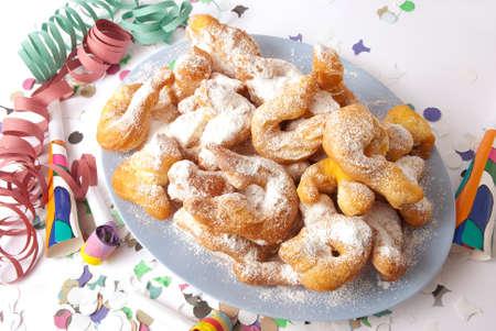 crostoli: Carnival cakes Stock Photo