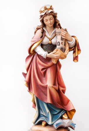 barbara: Statuette of Santa Barbara Wood
