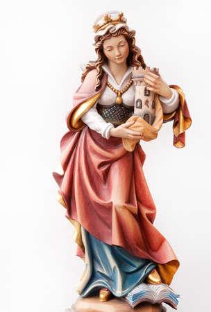barbara: Statuette of Santa Barbara Wood