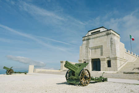grappa: Military memorial monument on the summit of Monte Grappa in memory of soldiers died during World War I. Monte Grappa, Italy Editorial