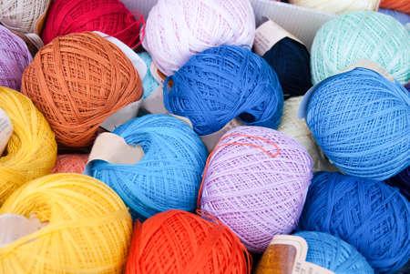 cotton thread: Balls of cotton thread