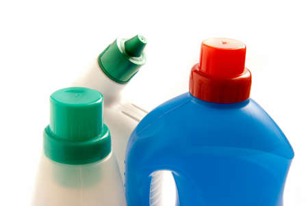 detergent: Detergent bottles on white background