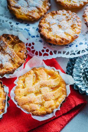 jam tarts: Jam tarts, homemade Stock Photo