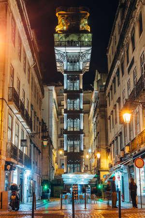 Lisbon, Portugal - May 9, 2017: The Santa Justa Elevator, is an elevator, in the civilian parish of Santa Justa, in the historic city of Lisbon.