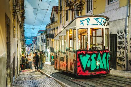 bica: Elevador da Bica, Lisbon Portugal Editorial