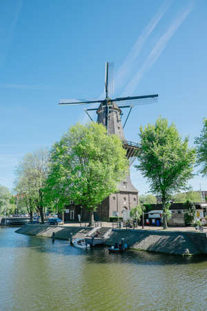 Amsterdam, Netherlands - May 13, 2019: Windmill
