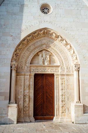Cathedral portal Santa Maria Assunta Conversano, Puglia Italy