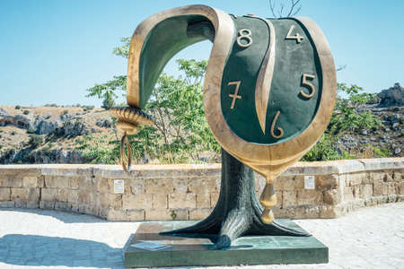 Matera, Italy - August 21, 2019: work by Salvador Dali 'on display in Matera