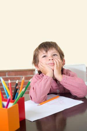 imagining: scholastic imagining boy in class