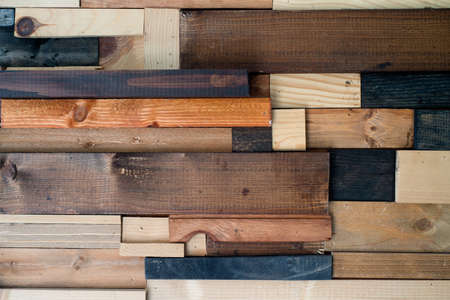 mosaic background: mosaic of pieces of wood